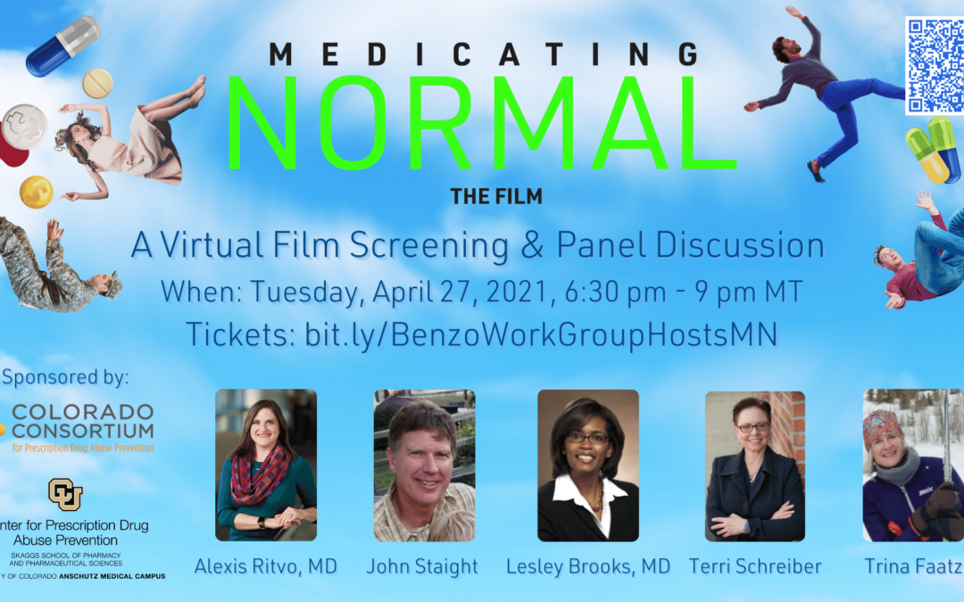 April 27, 2021: Benzo Action Work Group Medicating Normal Screening