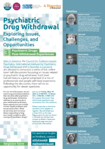 Psychiatric Drugs: Post-Withdrawal Experiences Town Hall